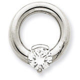 Diamond Slide Mounting 14k White Gold XSW392