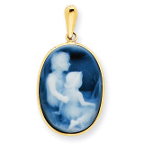 Family -- Siblings Cameo Pendant 14k Gold XU661