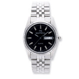 Mens Mountroyal Stainless Steel Black Dial Watch XWA1231