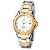 Mens Charles Hubert IP-plated Two-tone White Dial Watch XWA502