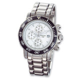 Mens Charles Hubert White Ceramic Dial Chronograph Watch XWA563