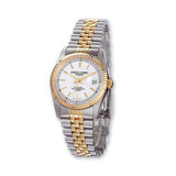 Ladies Charles Hubert IP-pltd Two-tone 26mm Off White Dial Watch XWA570