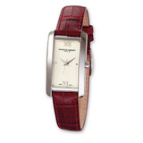 Ladies Charles Hubert Leather Band Dial Retro 21x30mm Watch XWA589