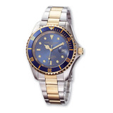 Mens Charles Hubert Two-tone Stainless Steel Blue Dial Watch XWA590