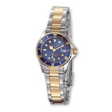 Ladies Charles Hubert Two-tone Silver Blue Dial Watch XWA591