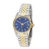 Mens Charles Hubert Two-tone Stainless Steel Blue Dial Watch XWA592