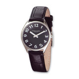 Ladies Charles Hubert Leather Band Black Dial Super Slim Watch XWA830