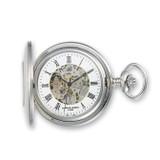 Charles Hubert Solid Stainless Steel White Dial Pocket Watch XWA834