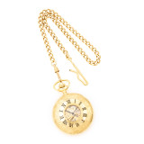 Charles Hubert Gold Finish White Dial Pocket Watch XWA849