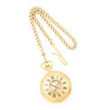 Charles Hubert Gold Finish White Dial Pocket Watch XWA849