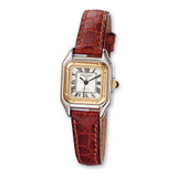 Ladies Charles Hubert Leather Band White Dial Retro 24mm Watch XWA861