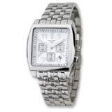 Mens Charles Hubert Stainless Steel White Dial Chronograph Watch XWA955