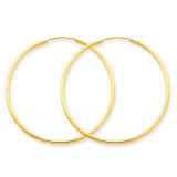 1.5mm Polished Round Endless Hoop Earrings 14k Gold XY1163