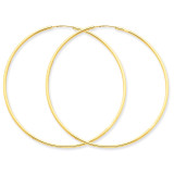 1.5mm Polished Round Endless Hoop Earrings 14k Gold XY1167