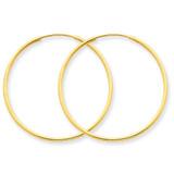 1.25mm Endless Hoop Earring 14k Gold XY1205