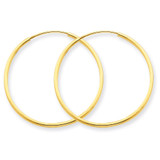 1.25mm Endless Hoop Earring 14k Gold XY1206
