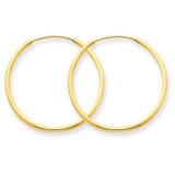 1.25mm Endless Hoop Earring 14k Gold XY1207