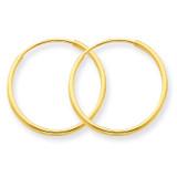 1.25mm Endless Hoop Earring 14k Gold XY1208