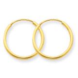 1.25mm Endless Hoop Earring 14k Gold XY1209