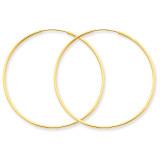 1.25mm Endless Hoop Earring 14k Gold XY1211