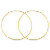 1.25mm Endless Hoop Earring 14k Gold XY1212