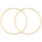 1.25mm Endless Hoop Earring 14k Gold XY1213