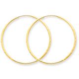 1.25mm Diamond-cut Endless Hoop Earring 14k Gold XY1215
