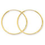 1.25mm Diamond-cut Endless Hoop Earring 14k Gold XY1216