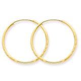 1.25mm Diamond-cut Endless Hoop Earring 14k Gold XY1217