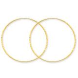 1.25mm Diamond-cut Endless Hoop Earring 14k Gold XY1221