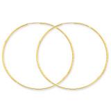 1.25mm Diamond-cut Endless Hoop Earring 14k Gold XY1223