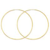 1.25mm Diamond-cut Endless Hoop Earring 14k Gold XY1224
