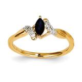 Diamond & Sapphire Ring 14k Gold Y11314S/AA