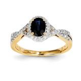 Diamond & Sapphire Ring 14k Gold Y11328S/AA