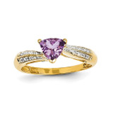 Diamond and Amethyst Ring 14k Gold Y11417AM/AA