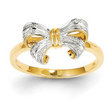 Diamond Bow Ring 14k Gold Rhodium Y11676AA