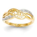 Diamond Mom Ring 14k Gold Rhodium Y11684AA