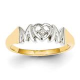 Diamond Mom Ring 14k Gold Rhodium Y11686AA