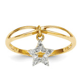 Diamond Star Dangle Ring 14k Gold Y11688AA