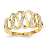 Diamond Swirls Ring 14k Gold Rhodium Y11702AA