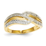 Diamond Ring 14k Gold Rhodium Y11709AA