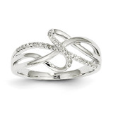 Diamond Twisted Design Ring 14k White Gold Y11734AA