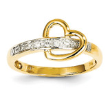 Diamond Heart Ring 14k Gold Y11811AA