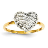 Diamond Heart Ring 14k Gold Y11820AA