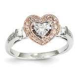 Diamond Heart Ring 14k Two-Tone Gold Y11833AA