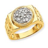 Diamond men's ring 14k Gold Y1517AA