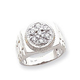 Diamond men's ring 14k White Gold Y1518AA