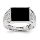 Diamond men's ring 14k White Gold Y1543AA