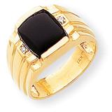 Diamond men's ring 14k Gold Y1548AA