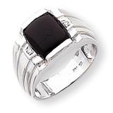 Diamond men's ring 14k White Gold Y1549AA
